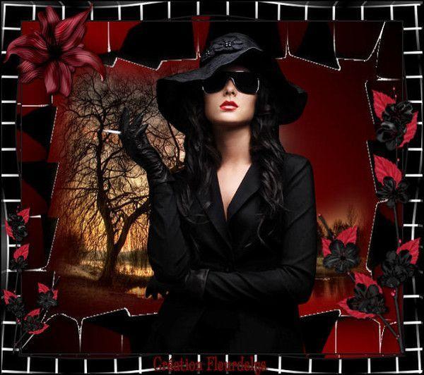La mystérieuse femme en noir de MA ELISA D'AMOUR...