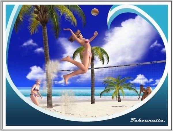 Une partie de beach-volley avec... MA DOMIE/MA JUMELLE...